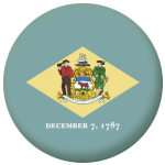 Delaware State Flag 58mm Mirror Keyring